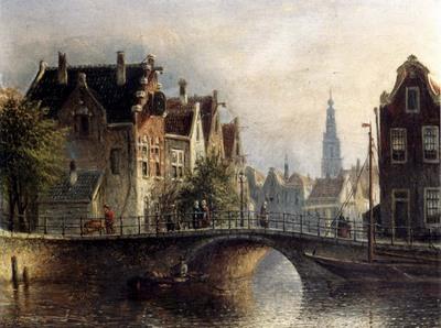 spohler johannes franciscus capricio sunlit townviews in amsterdam
