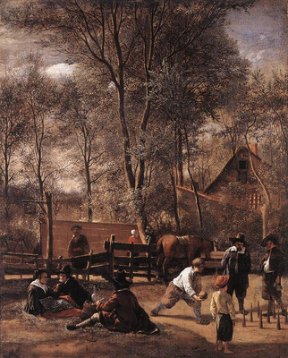 STEEN Jan Skittle Players Outside An Inn