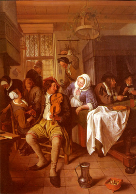 Steen Jan Interior Of A Tavern