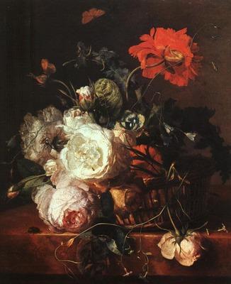 HUYSUM Jan Van Basket of Flowers