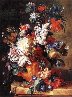 HUYSUM Jan Van Bouquet of Flowers in an Urn