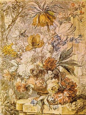 HUYSUM Jan Van Vase with Flowers