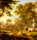 Huysum Jan Van A Classical Landscape With The Worship Of Bacchus