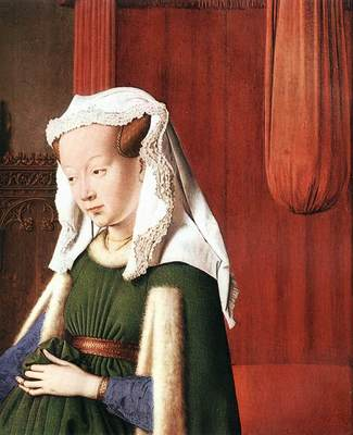 eyck jan van portrait of giovanni arnolfini and his wife detail