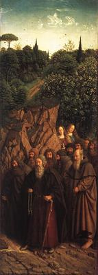 Eyck Jan van The Ghent Altarpiece Adoration of the Lamb The Holy Hermits