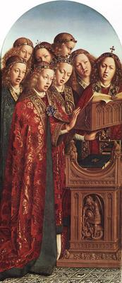 Eyck Jan van The Ghent Altarpiece Singing Angels
