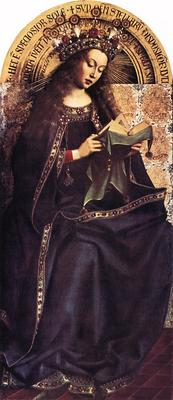 Eyck Jan van The Ghent Altarpiece Virgin Mary