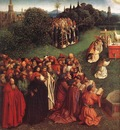 Eyck Jan van The Ghent Altarpiece Adoration of the Lamb detail left