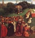 Eyck Jan van The Ghent Altarpiece Adoration of the Lamb detail left