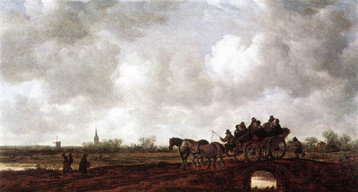 Goyen Jan van Horse Cart on a Bridge