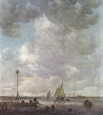 Goyen Jan van Marine Landscape with Fishermen