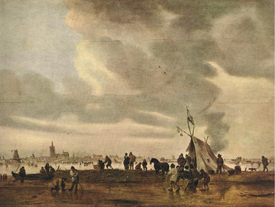 Goyen Jan van View of The Hague in Winter