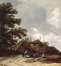 Goyen Jan van Farmyard with Haystack
