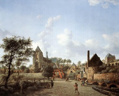 HEYDEN Jan van der Approach To The Town Of Veere