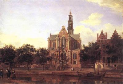 heyden jan van der view of the westerkerk amsterdam