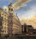HEYDEN Jan van der Amsterdam Dam Square With The Town Hall And The Nieuwe Kerk