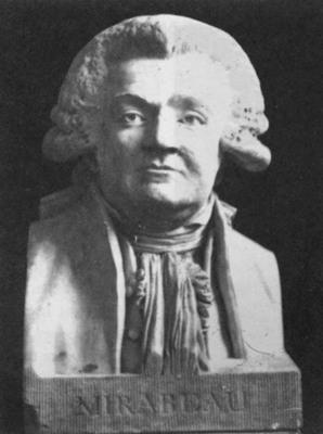 HOUDON Jean Antoine Bust of Mirabeau