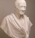 Houdon Jean Antoine Portrait of Voltaire in a Toga