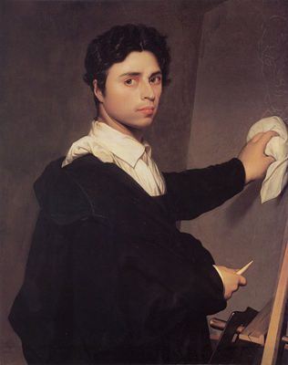 Ingres Copy after Ingres s 1804 Self Portrait