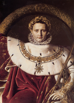 Ingres Napoleon I on His Imperial Throne detail