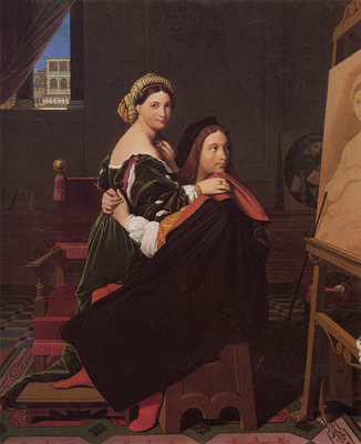 Ingres Raphael and the Fornarina