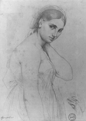 Ingres Study for Raphael and the Fornarina