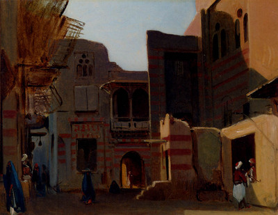 Gibert Jean Baptiste Adolphe A Street In Old Cairo