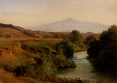 Gibert Jean Baptiste Adolphe A View Of The Roman Campagna