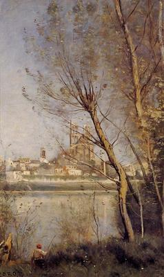 Corot Nantes the Cathedral and the City Seen throuth the Trees