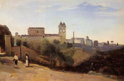 Corot Rome Monte Pinco the Trinita dei Monte View from the Garden of the Academie de France