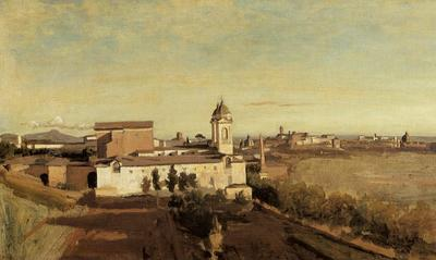 Corot Rome the Trinita dei Monti View from the Villa Medici