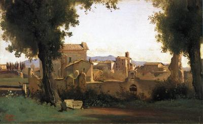 Corot View in the Farnese Gardens