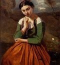 Corot Jean Baptiste Camille Corot La Meditation