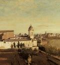 Corot Rome the Trinita dei Monti View from the Villa Medici