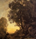 Corot The Italian Goatherd Evening