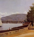 Corot The Quai des Paquis in Geneva