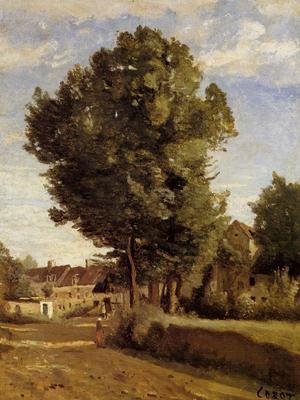 Corot A Village near Beauvais