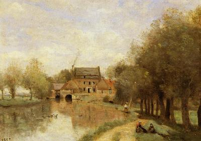 Corot Arleux du Nord the Drocourt Mill on the Sensee