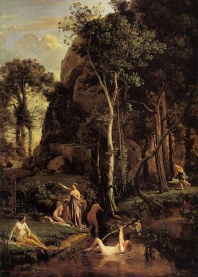 Corot Diana Surprised at Her Bath
