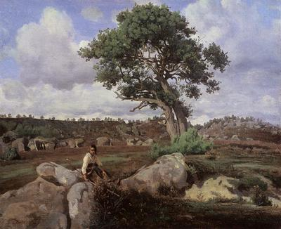 Corot Fontainebleau The Raging One
