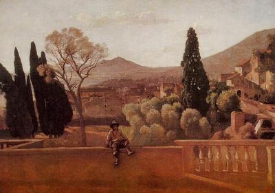 Corot Gardens of the Villa d Este at Tivoli