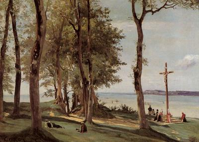 Corot Honfleur Calvary on the Cote de Grace
