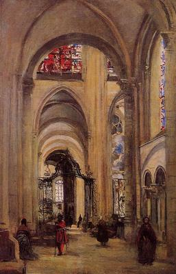 Corot Interior of Sens Cathedral