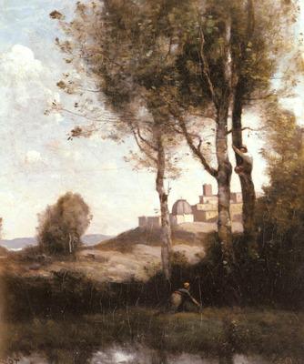 Corot Jean Baptiste Camille Les Denicheurs Toscans