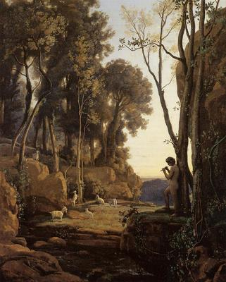 Corot Landscape Setting Sun aka The Little Shepherd