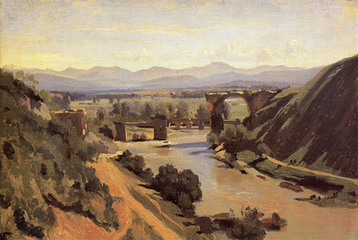 Corot The Augustan Bridge at Narni