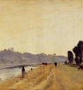 Corot Banks of a River