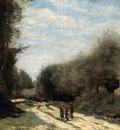 Corot Crecy en Brie Road in the Country