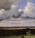 Corot Fontainebleau Storm over the Plains