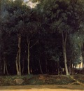 Corot Fontainebleau the Bas Breau Road
